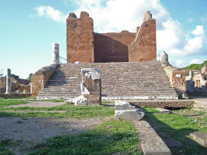 Tempel in Ostia